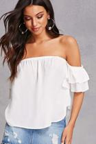 Forever21 Tiered Sleeve Chiffon Top