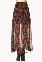 Forever21 Romantic Rose Maxi Skirt