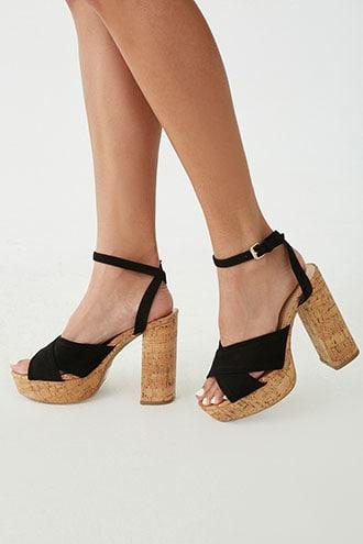 Forever21 Cork Block Heels