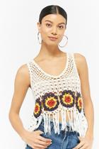 Forever21 Fringe Crochet Crop Top
