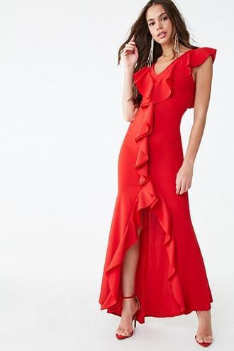 Forever21 Ruffled Flounce Dress