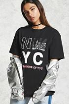 Forever21 Nyc Thinking Of You Graphic Tee