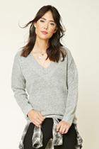 Forever21 Marled V-neck Sweater