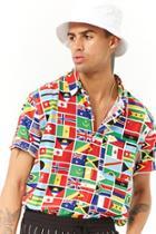 Forever21 Flag Print Shirt