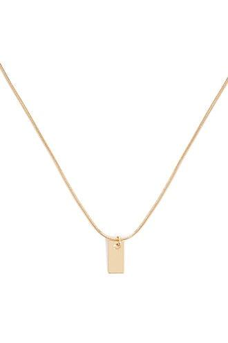 Forever21 Rectangle Pendant Necklace