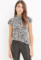 Love21 Marled Mock-neck Top
