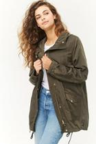 Forever21 Drawstring Hooded Parka