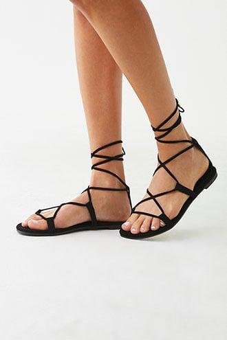 Forever21 Velveteen Lace-up Sandals
