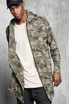 Forever21 Hooded Camo Print Cardigan
