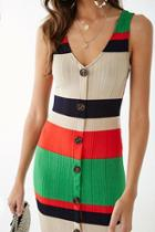 Forever21 Ribbed Striped Colorblock Dress