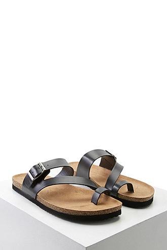Forever21 Buckled Toe-loop Sandals
