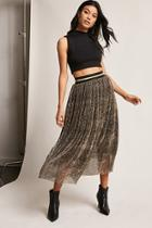 Forever21 Crinkled Metallic Maxi Skirt