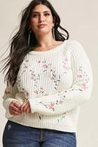 Forever21 Plus Size Floral Sweater
