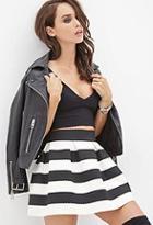 Forever21 Striped Pleated Skirt
