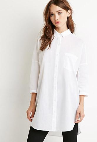 Forever21 Oversized Longline Shirt