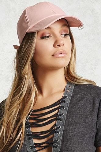 Forever21 Faux Leather Pierced Dad Cap