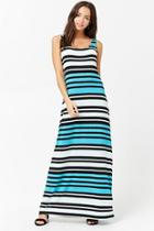 Forever21 Striped Colorblock Maxi Dress