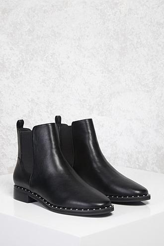 Forever21 Studded Chelsea Boots