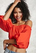 Forever21 Off-the-shoulder Puffy Top