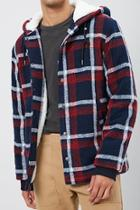 Forever21 Hooded Plaid Jacket