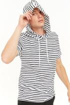 Forever21 Striped Hooded Top