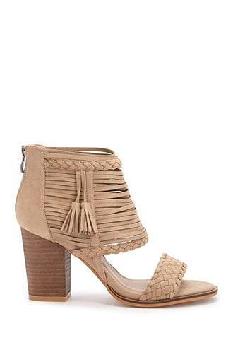 Forever21 Woven Strappy Heeled Sandals
