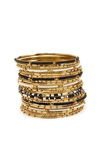 Forever21 Beaded Bangle Bracelet Set