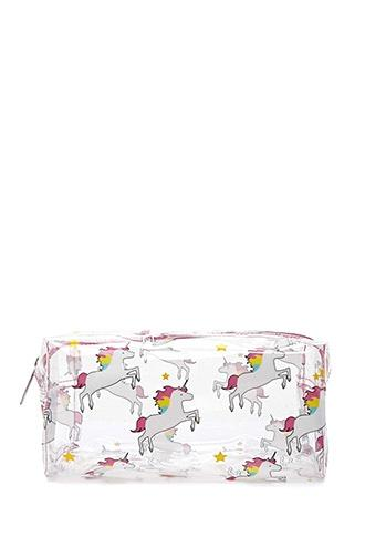 Forever21 Unicorn Clear Makeup Bag