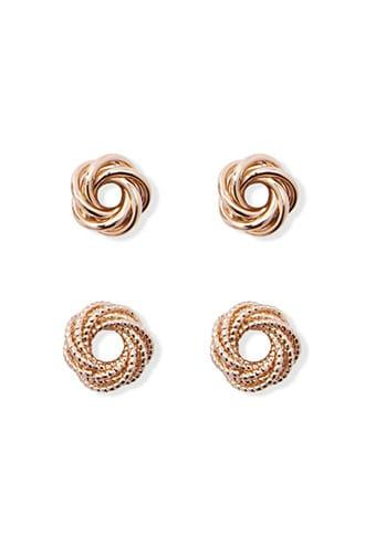 Forever21 Layered Knot Stud Set