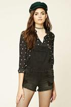 Forever21 Distressed Overall Shorts