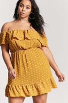 Forever21 Plus Size Polka Dot Ruffle Dress