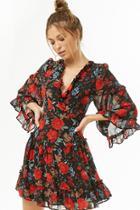 Forever21 Ruffled Floral Mini Dress
