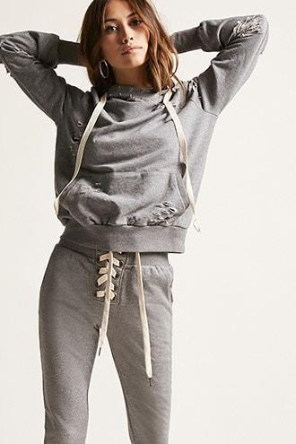 Forever21 Lace-up Joggers