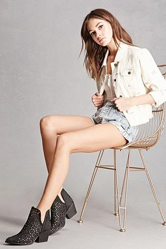 Forever21 Musse & Cloud Split Ankle Boots