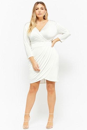 Forever21 Plus Size Surplice Tulip Hem Dress