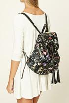 Forever21 Floral Faux Leather Backpack