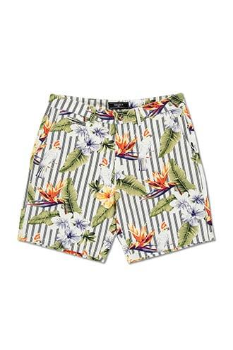Forever21 Floral & Striped Shorts