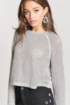 Forever21 Ribbed Raglan Sweater-knit Top