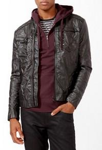 Forever21 Quilted Faux Leather Jacket