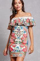 Forever21 Mosaic Print Bodycon Dress