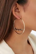 Forever21 Hope Hoop Earrings