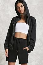 Forever21 Hooded Satin Jacket