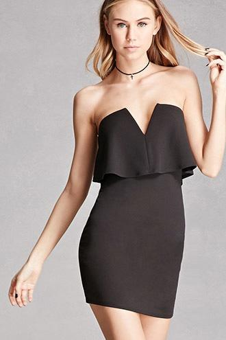 Forever21 Strapless Bodycon Mini Dress