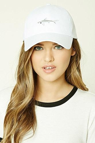 Forever21 Embroidered Shark Cap