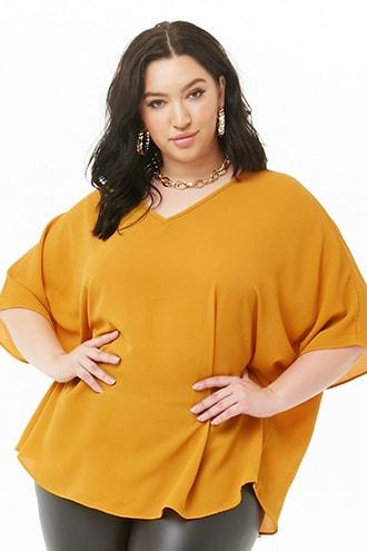 Forever21 Plus Size Crepe Cocoon Top