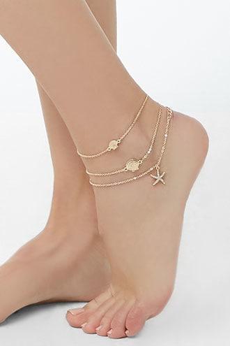 Forever21 Charm Anklet Set