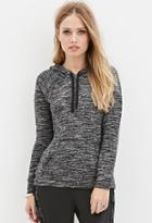 Forever21 Marled Knit Hooded Sweatshirt