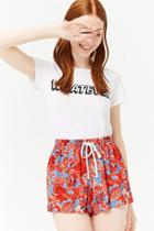 Forever21 Floral Drawstring Shorts