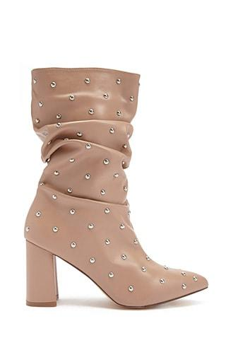 Forever21 Lemon Drop By Privileged Studded Boots
