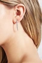 Forever21 Rhinestone Curved Drop Earrings